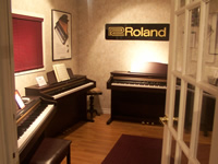 Roland digital piano showroom